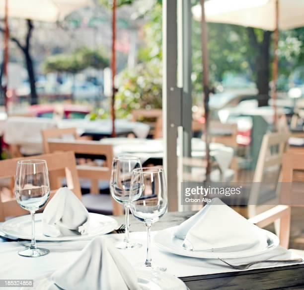 Table in restaurant.