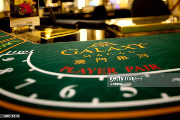 A table is displayed in the High Limits area of the Galaxy Macau on the day of the Grand Opening on Sunday May 15 2011