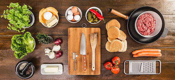 Table Laid With Ingredients And Utensils Wall Art