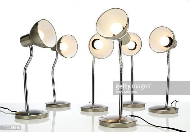 table lamps laughing in a meeting - lamp stock photos and pictures