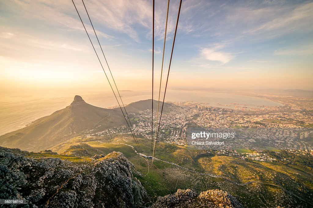 Table Mountain Aerial Cableway in Cape Town : Stock Photo