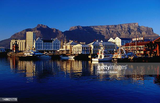 Table Mountain behind the historic Victoria and Alfred Waterfront.