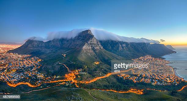 table mountain, cape town, south africa - table mountain stock pictures, royalty-free photos & images