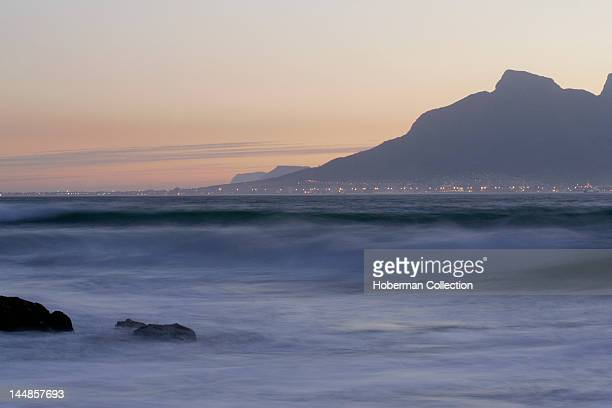 Table Mountain from Robben Island, Cape Town, South Africa