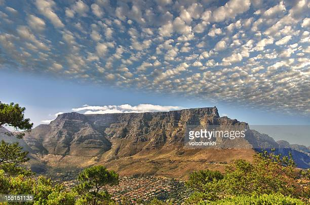 hdr table mountain - table mountain stock pictures, royalty-free photos & images