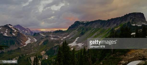 tafelberg twilight - table mountain stockfoto's en -beelden