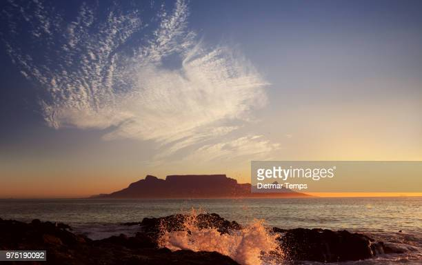 Table Mountain with clouds, Cape Town, South Africa