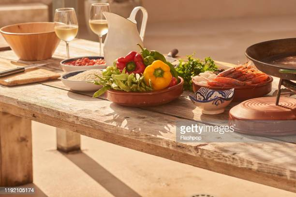 a table of delicious fresh produce - art and craft product stock pictures, royalty-free photos & images