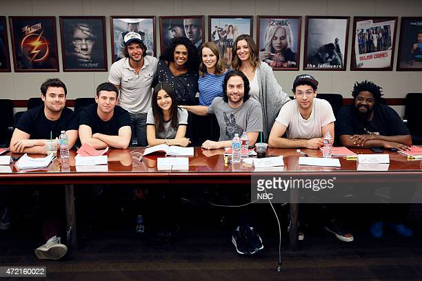 UNDATEABLE Table Read Pictured Back Adam Hagenbuch Briana Henry Bridgit Mendler Bianca Kajlich Front David Fynn Brent Morin Victoria Justice Chris...