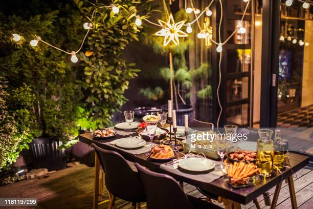 table ready for dinner party - arranging stock pictures, royalty-free photos & images