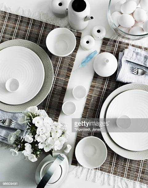 A table ready laid, Sweden.