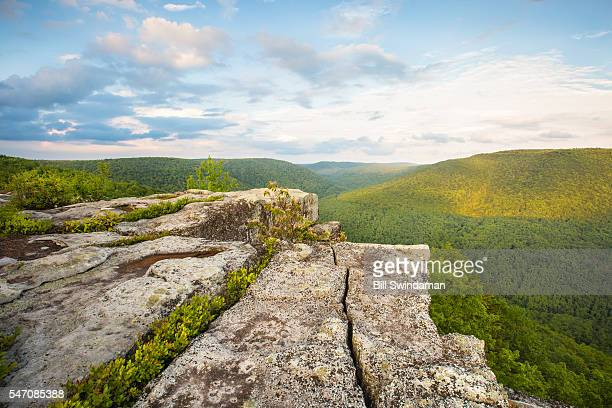 table rock in canaan valley west virginia on canaan loop road in canaan valley. - monongahela national forest stock photos and pictures