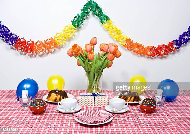 A table set for a party