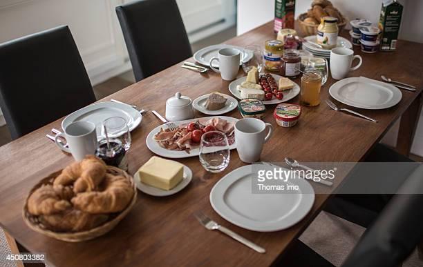 BINZ GERMANY APRIL 18 A table set for breakfast as seen in Binz Germany on April 18 2014