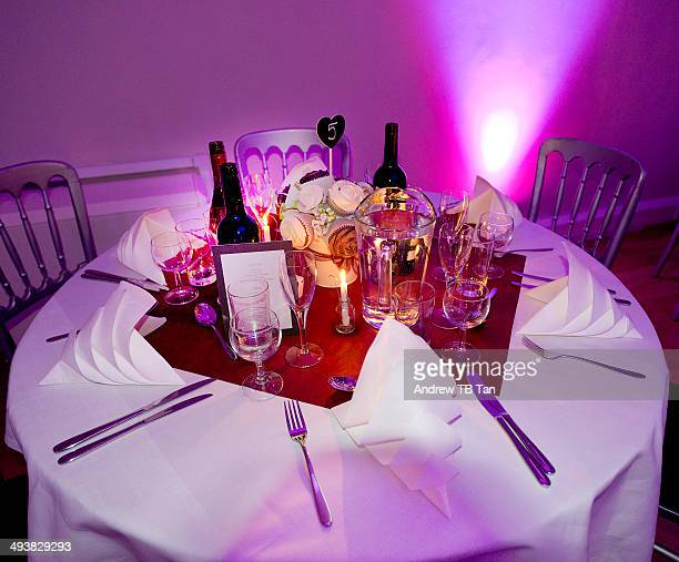 Table set for wedding celebration