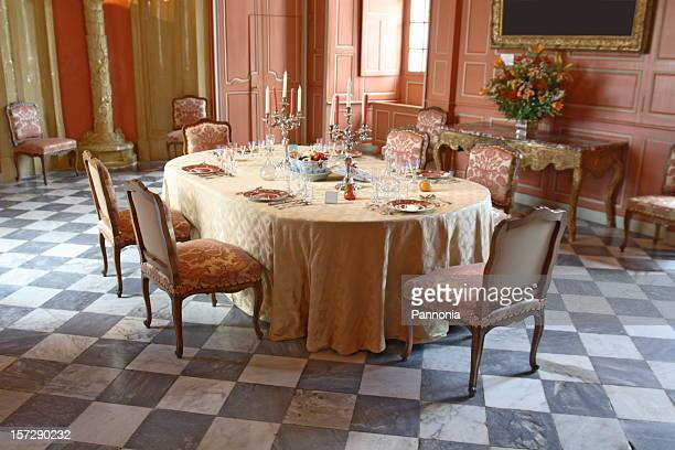 テーブルセッティングで Villandry 城
