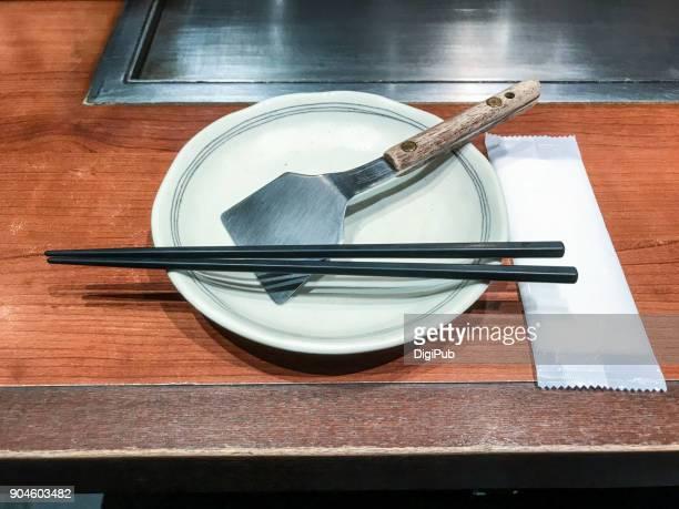 Table set of teppan yaki