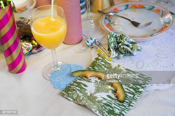 table setting after party - messy table after party stock pictures, royalty-free photos & images