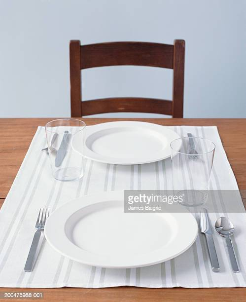 table setting for two - romantic dinner stock pictures, royalty-free photos & images