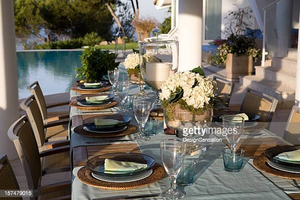 Table Setting - Luxury Outdoor Catering Pool Side