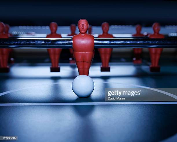 Table soccer game, close up