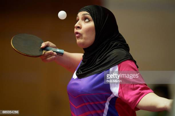 4th Islamic Solidarity Games Pakistan Rahila Kashif in action during Womens Singles at Sarhadchi Arena Baku Azerbaijan 5/17/2017 CREDIT Bob Martin
