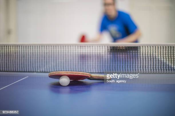 table tennis ball and racket - table tennis stock pictures, royalty-free photos & images