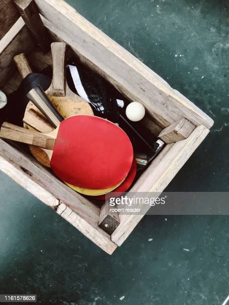 table tennis bat and ball - world championship stock pictures, royalty-free photos & images