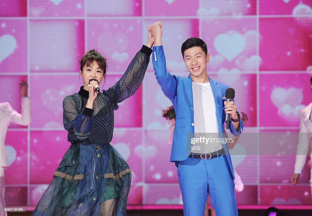 "Ma Long And Jolin Tsai Attend ""Day Day Up"" Recording In Changsha : News Photo"