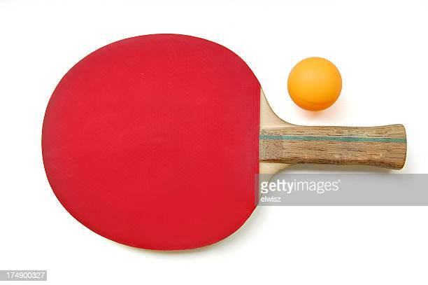 table tennis paddle & ball