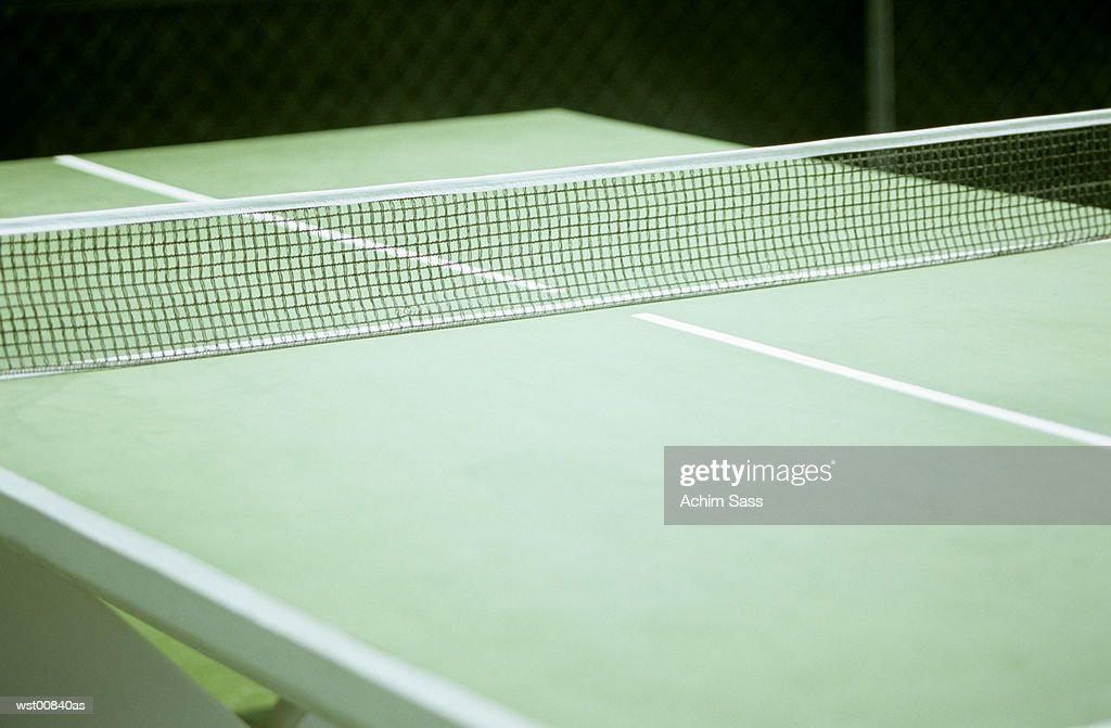 Table tennis table, close up : Stock Photo