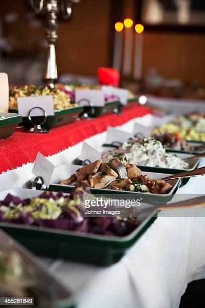 Table with Christmas food