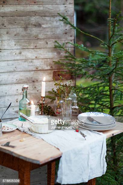 Table with food outdoor