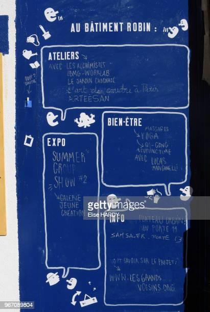 Tableau de répartition des différentes tâches et activités proposées à la Ressourcerie Créative Les Grands Voisins dans lancien hôpital SaintVincent...