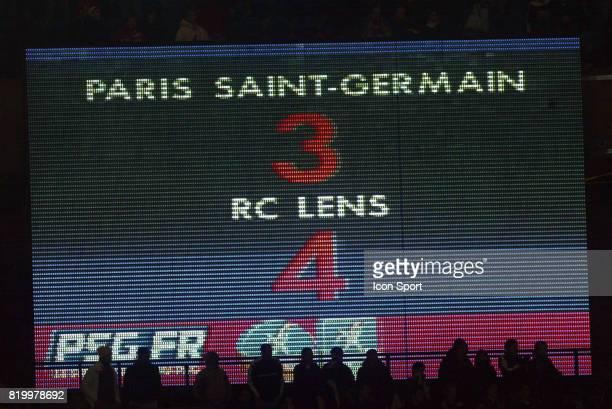 Tableau de score PSG / Lens 16e journee Ligue 1