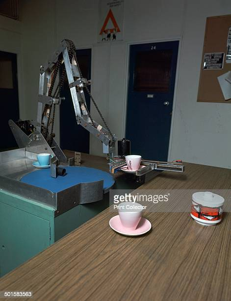 Tableclearing robot made at Queen Mary College in Londond in the dept of Professor M W Thring