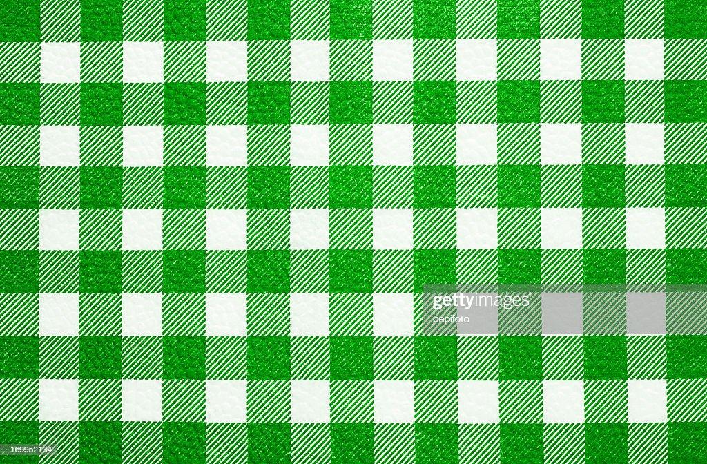 Textura de tecido xadrez toalha de mesa : Foto de stock