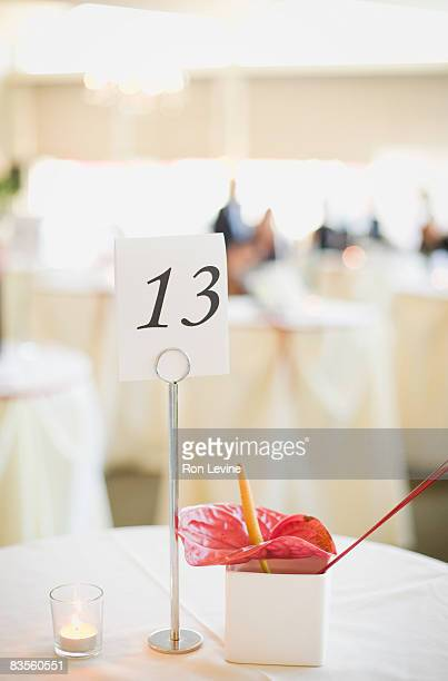 Tables at a banquet, numbered