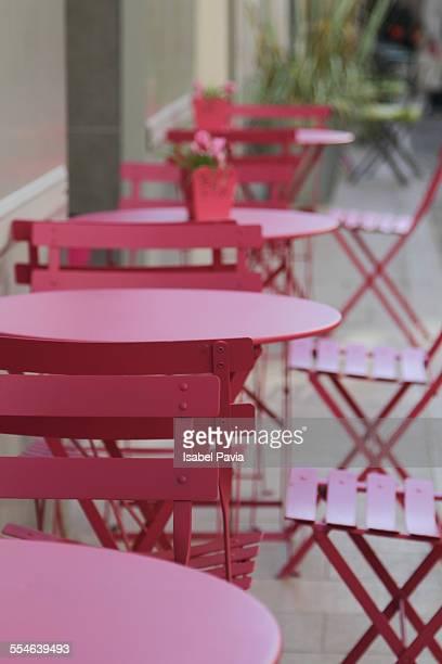Tables in restaurant in France