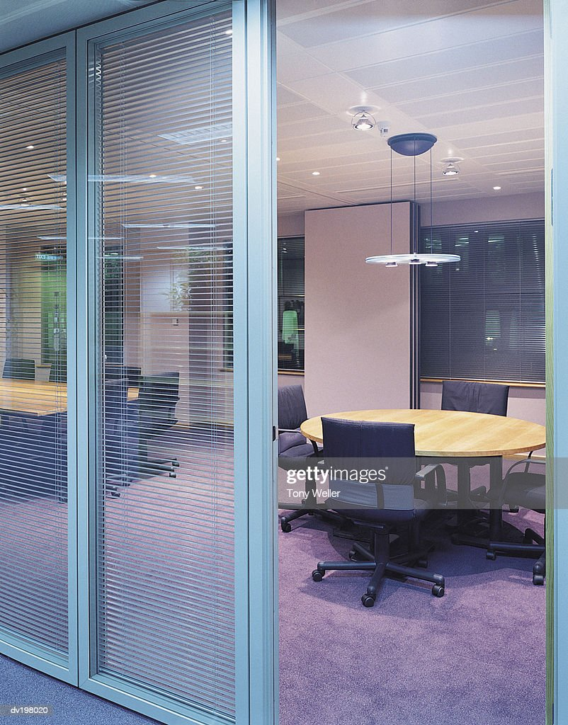 Tables inside a conference room : Stock Photo