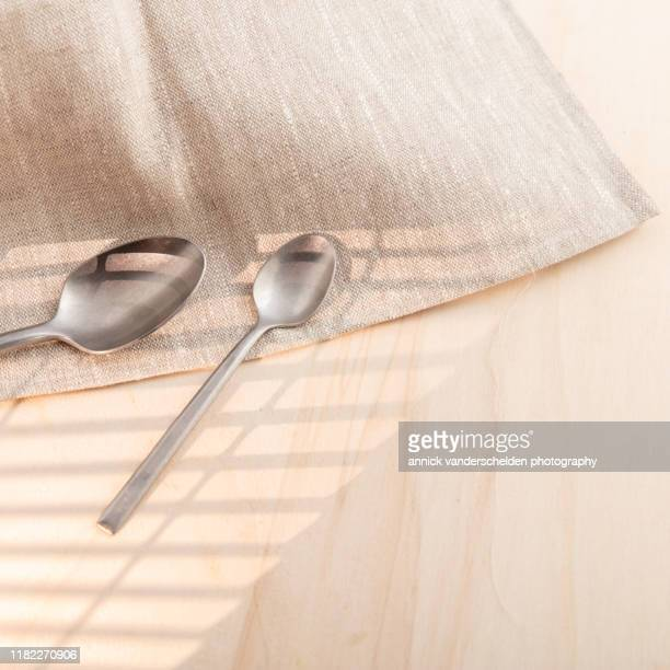 tablespoon and teaspoon - tablespoon vs teaspoon stock photos and pictures