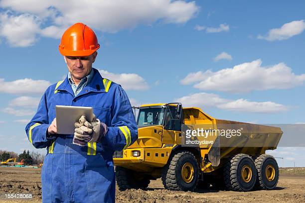 Tablet and Dump Truck