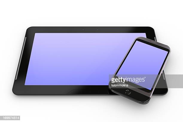 tablet and smartphone - liquid crystal display stock pictures, royalty-free photos & images