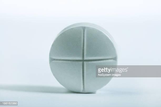 Tablet aspirin macro shot