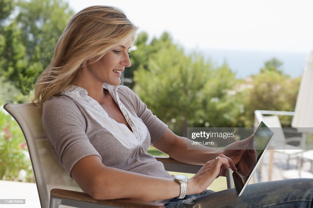 Tablet browsing : Stock Photo