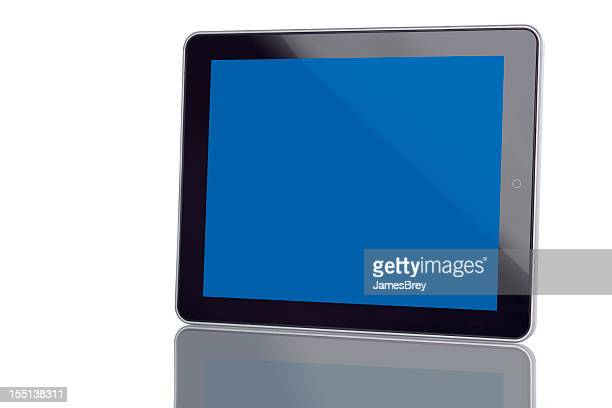 Tablet Computer With Blank Blue Screen