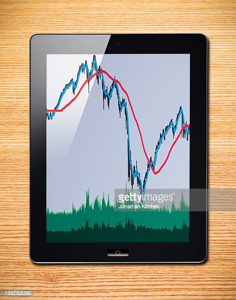 Tablet computer with graphs
