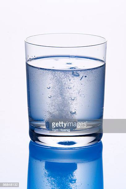 Tablet in glas of water