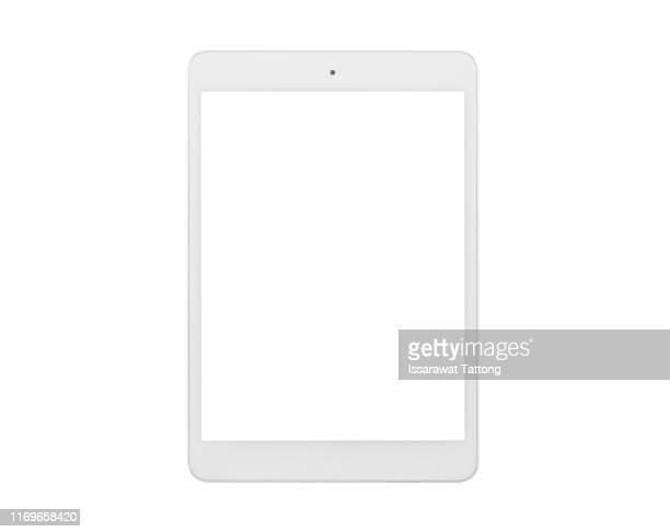 tablet pc isolated on white background - tablette photos et images de collection