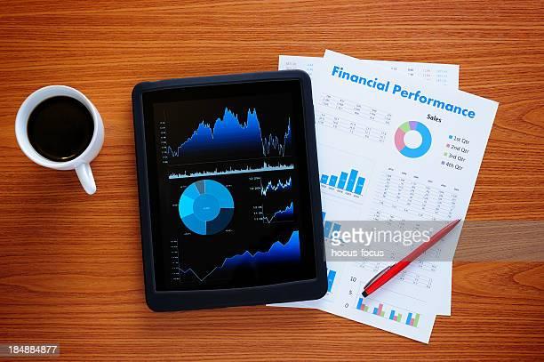 Tablet PC on business desk